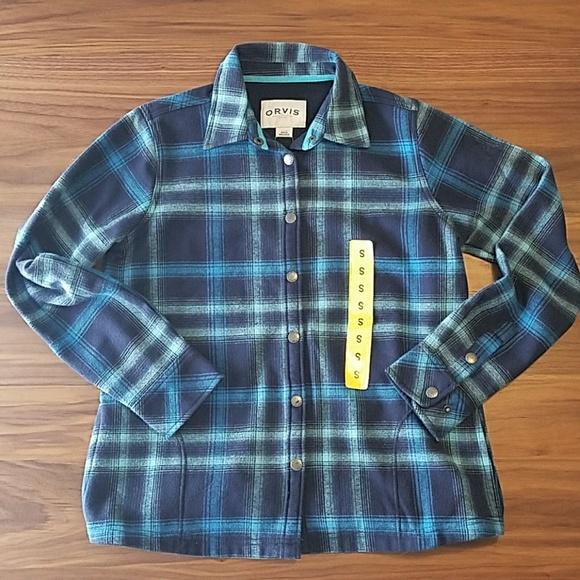 0bdaa0c0d3d 🌟NWT🌟 Orvis Fleece Lined Plaid Jacket